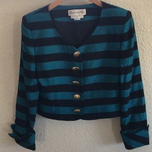 Christian Dior crop jacket. Size 6.